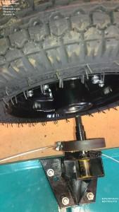 Установка колеса прицеп МП 600