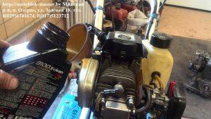 заправка маслом двигатель робин ено 35 субару