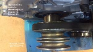 Шкив на мотоблоке Нева с двигателем Хонда м
