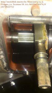 МТЗ 132 вал с тормозной колодкой устанавливаем