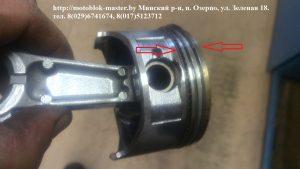 Кольца на поршне разведены не правильно двигатель хонда GX