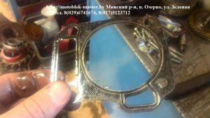 При ремонте использовалась старая прокладка головки блока, двигатель Магнум.