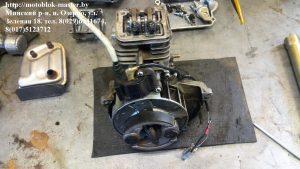 демонтаж глушителя двигатель Робин ено 35 субару