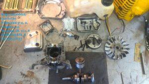 Полностью разобраный двигатель робин ено 35 субару
