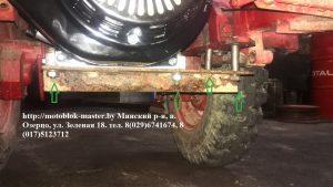 мотоблок мтз установка приставки с двигателем хонда 13 л.с.
